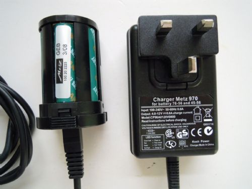 METZ 45 NIMH CHARGER AND BATTERY